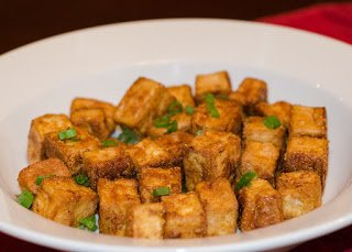 Crispy Pan Fried Tofu for Stir Fry