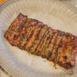 Grilled Skirt Steak with Garlic Cilantro Rub