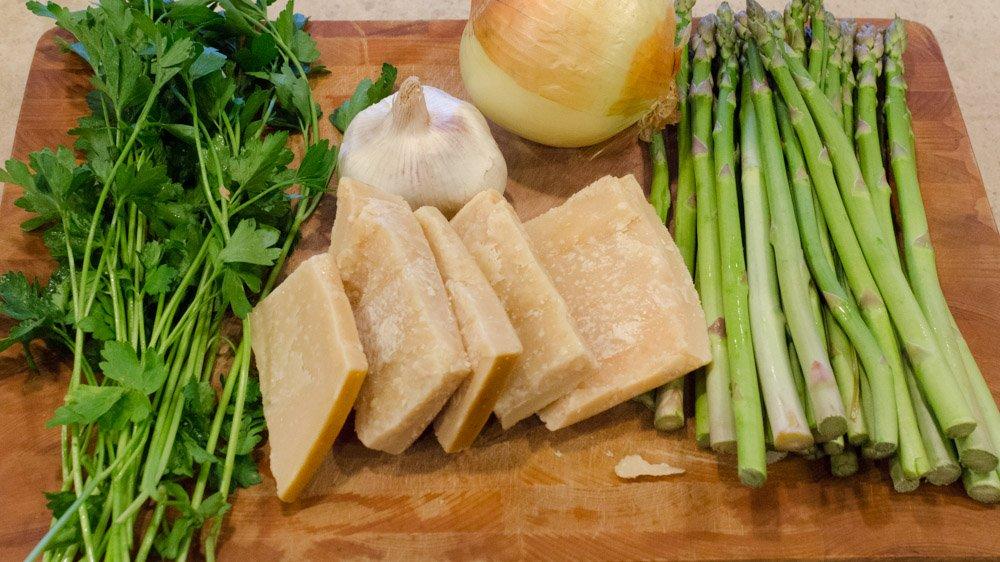 Ingredients for Parmesan Rind Stock