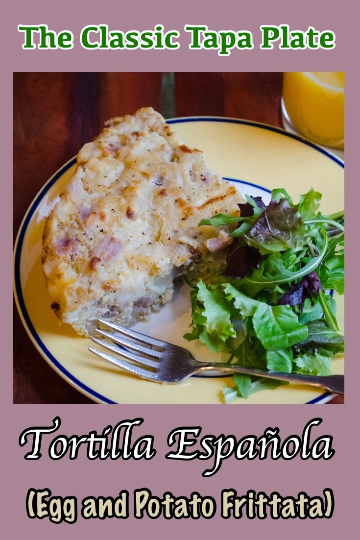 Tortilla Espanola, the classic tapas dish that you can make at home in this authentic recipe