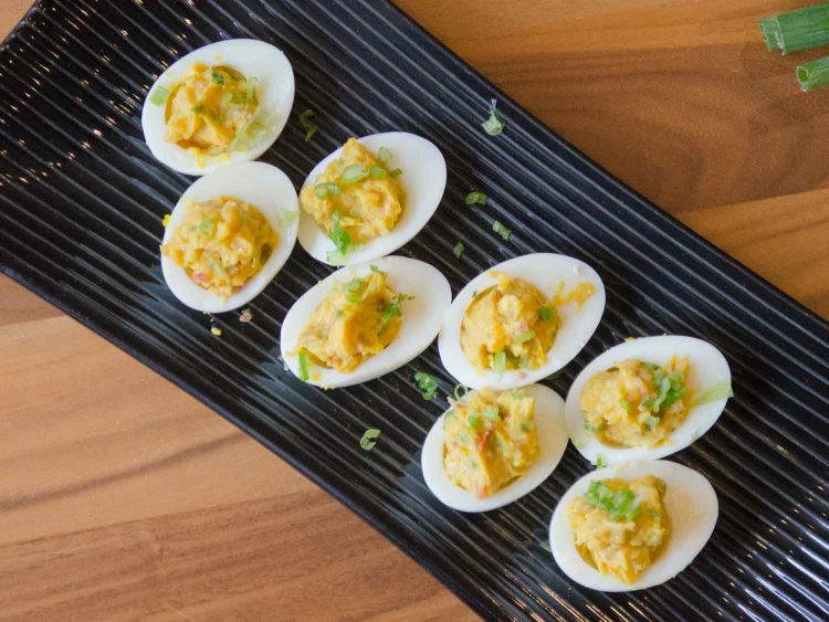 Miso-Bacon Deviled Eggs